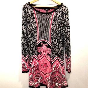 Style & Co Dresses - 3/$20 Style & Co pink black soft dress medium
